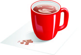 Red cup of coffee — Stock Vector