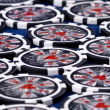 Stock Photo: Black poker chips