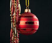 圣诞红球 — 图库照片