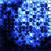 Fond abstrait mosaïque bleue — Photo