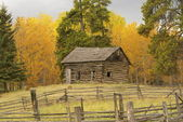 Old house in autumn — Stock Photo