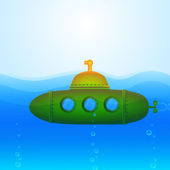 Vector Submarine Illustration — Vettoriale Stock