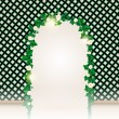Beautiful Flower Decorated Ivy Leaf Gate — Stock Vector