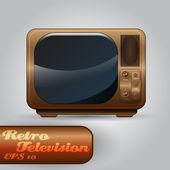 Beautiful Vector Retro TV — Stock Vector