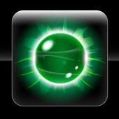 Güzel yeşil küre simgesi — Stok Vektör