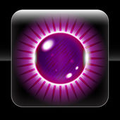 Beautiful Purple Orb Icon — Vettoriale Stock
