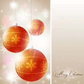 Christmas background with shiny Globes — Stock Vector