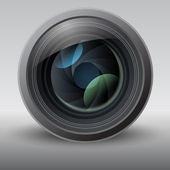 Glanzende vectorillustratie lens — Stockvector