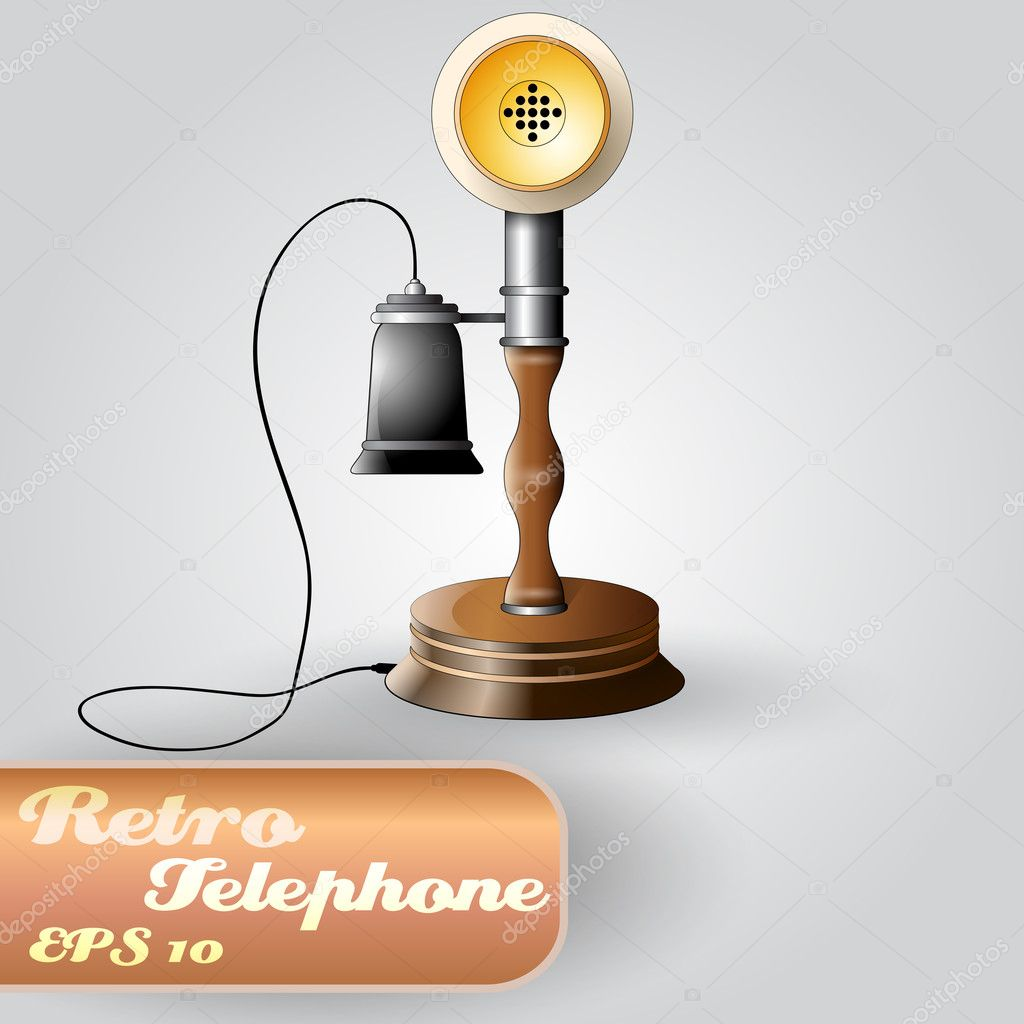 Beautiful Vector Retro Telephone  Stock Vector #7915630