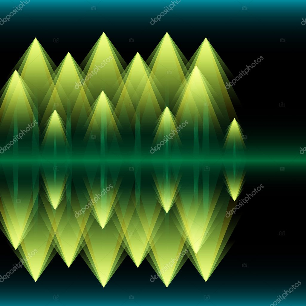Abstract Vector Pine Tree Forest at Night  Imagens vectoriais em stock #7915663