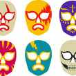 LuchLibre Masks — Stock Vector #7932950