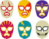 Lucha Libre Masks — Stock Vector