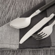 Stock Photo: Cutlery and napkin