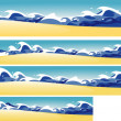 Beach banners — Stock Vector #7916593