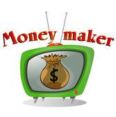 Fabricante de dinero — Vector de stock