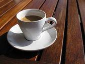 Café al sol — Stock Photo