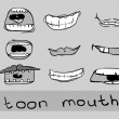 Royalty-Free Stock Vector Image: Cartoon mouth set