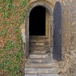 Entry door of a dungeon — Stock Photo