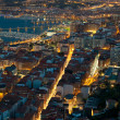 Stock Photo: Nightfall in Santurtzi
