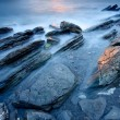 Rocks on the sea of Barrika, Bizkaia, Spain - Stock Photo