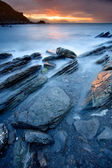 Rocks on the sea of Barrika, Bizkaia, Spain — Stock Photo
