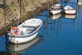 Boats in Orio´s river, Gipuzkoa, Spain — Foto de Stock