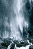 Cascade of Collados del Ason in black and white, Cantabria (Spain) — Stockfoto