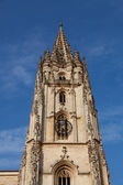 Bell tower of the cathedral of Oviedo, Asturias, Spain — Stock Photo