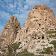 Stock Photo: Village of Uchisar in Capadocia, Turkey