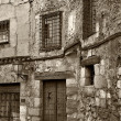 Old Town of Cuenca in black and white, Castilla la Mancha, Spain — Stok fotoğraf