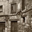 Old Town of Cuenca in black and white, Castilla la Mancha, Spain — Foto de Stock