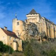 Castelnaud La Chapelle castle in Dordogna, France - Stock Photo