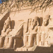Statues of stone in the temple of abu simbel, Egypt — Stock Photo #7959907