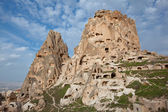 Village of Uchisar in Capadocia, Turkey — Stock Photo