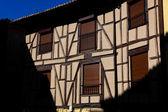 Domy z poza de la sal, burgos, španělsko — Stock fotografie