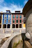 Ulica avilés, asturias, hiszpania — Zdjęcie stockowe