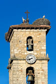 Belfry of San Leonardo de Yague, Soria, Castilla y Leon, Spain — Stock Photo