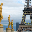 Stock Photo: Eiffel Tower from Trocadero, Paris, France
