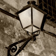 Streetlight in the city of Cuenca, Spain - Stock Photo