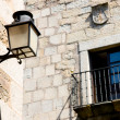 Streetlamp in the old quarter of Caceres, Extremadura (Spain) — Stock Photo