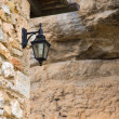 Streetlight in Orbaneja del Castillo, Burgos, Spain - Stock Photo