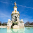 Fountain in Aranjuez close to the palace, Madrid, Spain - Foto Stock