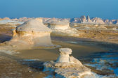Formations in the white desert, Egypt — Stock Photo
