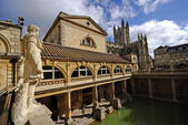 Roman baths, Bath, Somerset, UK — Stock Photo