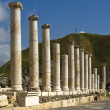 Roman columns in Israel Beit Shean - Stock Photo