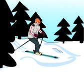 Ski,skiing — Foto de Stock