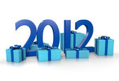New year 2012 boxes — Stock Photo