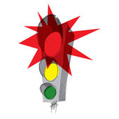Red traffic lights — Stock Vector