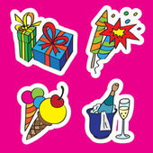 Holiday icon set — Stock Vector
