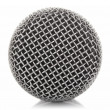 Stock Photo: Metallic microphone mesh
